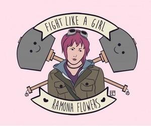 ramona flowers and fight like a girl image