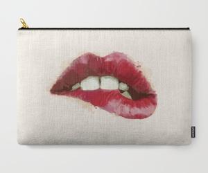 bag, illustration, and lips image