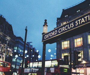 bus, lights, and london image