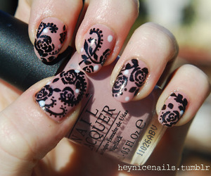 nails, black, and nailart image