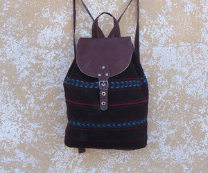 backpack, fashion, and leather backpack image