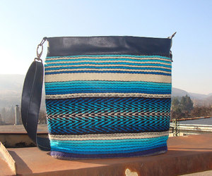 etsy, leather handbag, and blue purse image