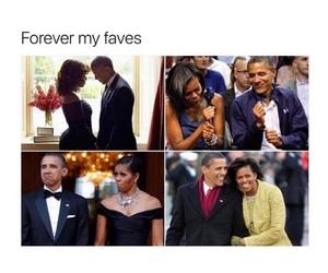 michelle obama, obama, and favs image