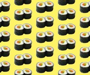 sushi, wallpaper, and yellow image