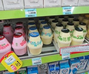 korea, milk, and food image