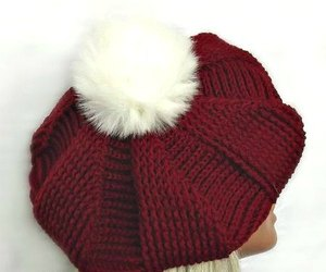 french hat, pom pom hat, and basque beret image