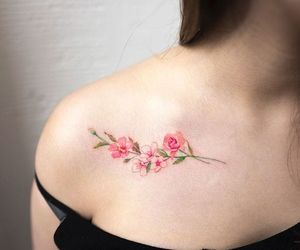 minimalist, flower, and tattoo image