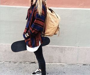 girl, skate, and vans image