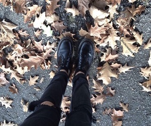 autumn, black jeans, and clothes image