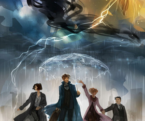 fantastic beasts, newt scamander, and drawing image
