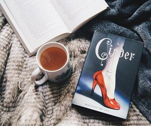 book, bookworm, and tea image