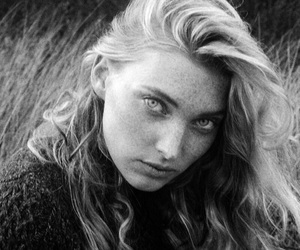 beauty, blonde, and freckles image