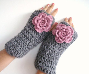 accessories, christmas, and fingerless gloves image
