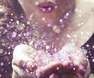 girl, paillettes, and glitter image