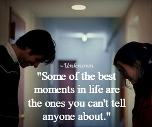 guy and girl, quote, and unknown image