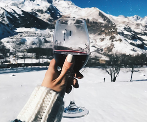 winter, wine, and drink image
