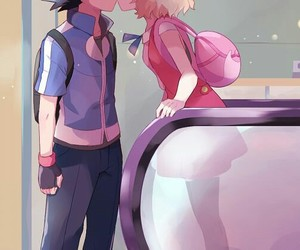 pokemon, ash, and kiss image