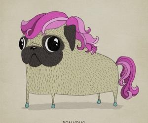 unicorn, pug, and dog image