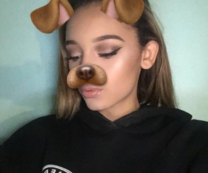 glam, makeup, and puppy image