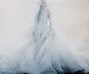 white, beauty, and bride image