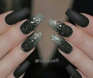 black, christmas, and nails image