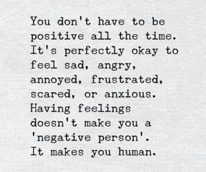 human, sad, and positive image