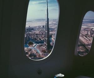 Dubai, travel, and airplane image