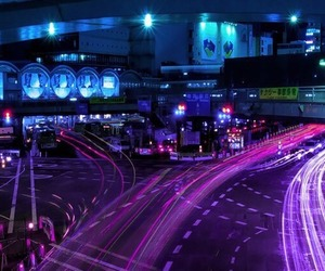 purple, light, and city image