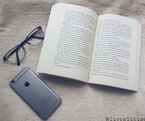 book, bookworm, and glasses image
