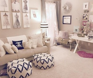 room, bedroom, and chanel image