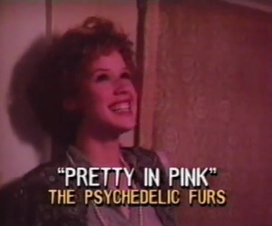 Molly Ringwald, pretty in pink, and the psychedelic furs image