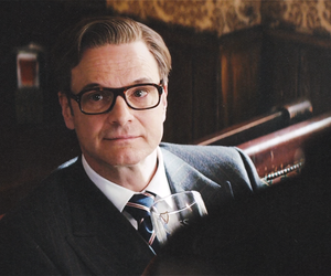 Colin Firth, glasses, and handsome image