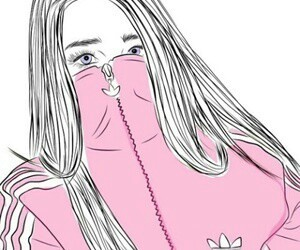 pink, outline, and adidas image