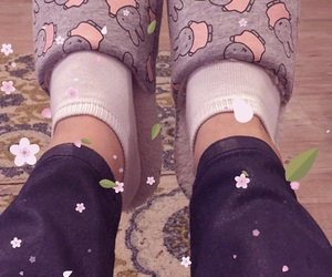 bunnies, pink, and slippers image