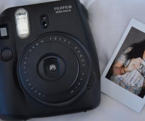 black, photography, and polaroid image