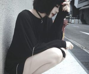 black, girl, and grunge image