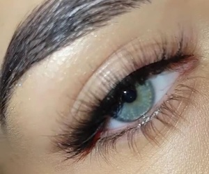blue, lashes, and natural image
