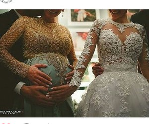baby, pregnant, and bride image