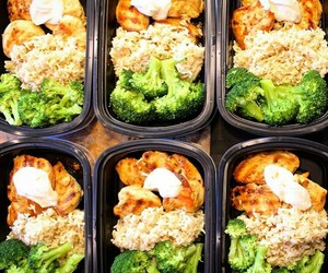 box, broccoli, and Chicken image
