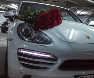car, flowers, and love image