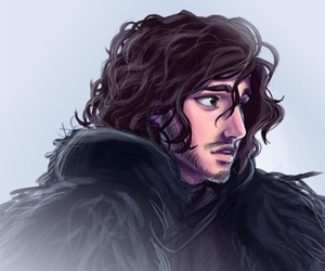 digital art, man, and jon snow image