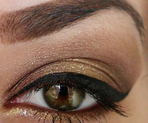 eyebrow, eyes, and make up image