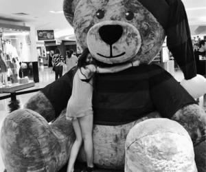 bear, gift, and girl image
