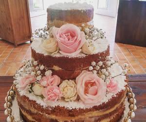 cake, food, and naked cake image