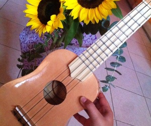 flowers, girasol, and musica image