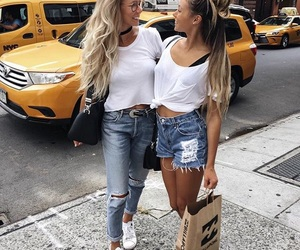 beautiful, fashion, and sisters image