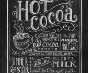 chocolate, hot cocoa, and typography image