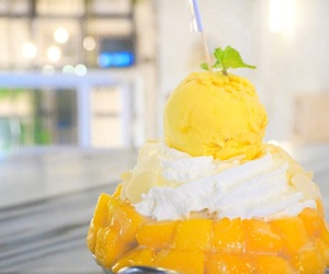 ice-cream, mango, and summer image