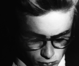 james dean, black and white, and glasses image