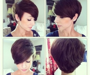 hair cut, hair style, and pixie haircut image